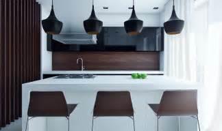 Compact modern kitchen with eat in island design olpos design