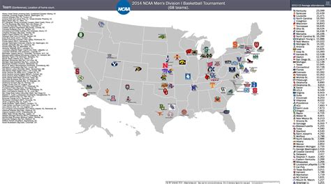 march madness mens teams i love maps geographic distribution of teams in the 2014