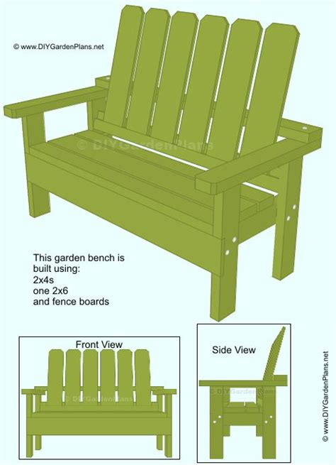 simple garden bench plans 25 best ideas about garden bench plans on pinterest