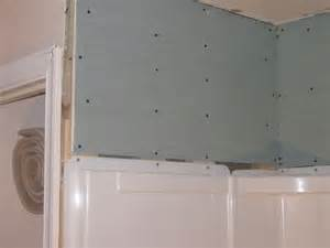 bathroom how to tile shower wall surround flange