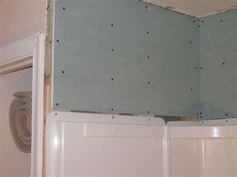 bathroom   tile  shower wall surround flange home improvement stack exchange