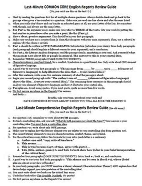 Regents Essay Exles by Regents Critical Lens Essay Exle