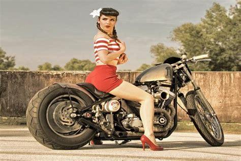 Motorrad Pin Up Tattoo by Ratrod Harley Davidson Motorcycle Rockabilly Retro Sexy