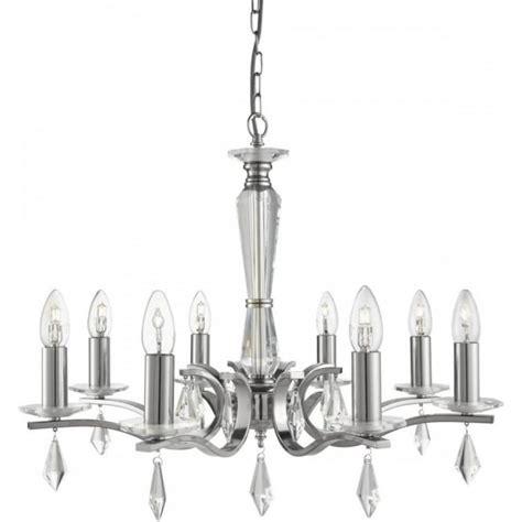 Multi Arm Ceiling Light Searchlight Royale Modern 8 Light Multi Arm Ceiling Light In Satin Silver Finish 3908 8ss