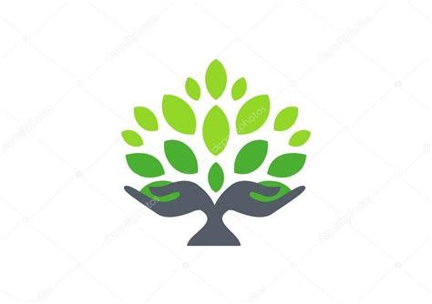 tree symbol tree hand logo hand tree nature wellness health symbol