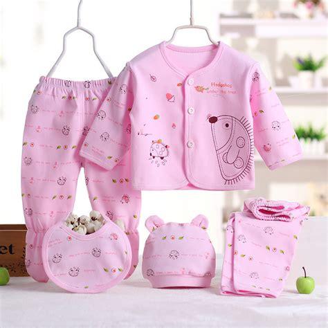 Rich Beibi 1 Set 5pakaian 5 buah set pakaian bayi baru lahir bayi lucu kartun
