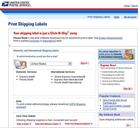 printable priority mail label how to print mailing labels and postage online