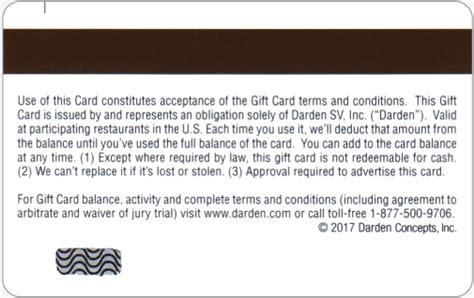 Darden Gift Card Balance - darden com gift card balance lamoureph blog