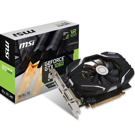 gtx 1080 single fan msi geforce gtx 1060 gt oc single fan 6144mb ocuk