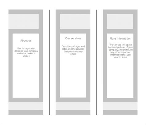blank brochure template for word blank brochure templates for www pixshark