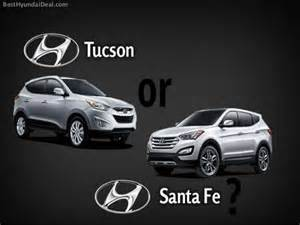 Hyundai Tucson Santa Fe Hyundai Santa Fe Vs Hyundai Tucson