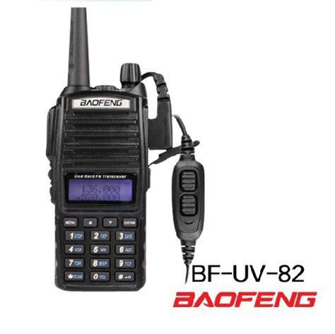 Walkie Talky Ht Handy Talkie Baofeng Uv82 Radio Komunikasi Terbaru dual channel ptt microphone earpiece earphone for baofeng uv 82 uv82 walkie talkie 11street