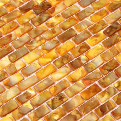 gold backsplash tile shell mosaic tiles gold of pearl tile backsplash
