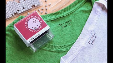 minestamp customizable clothing labeler youtube