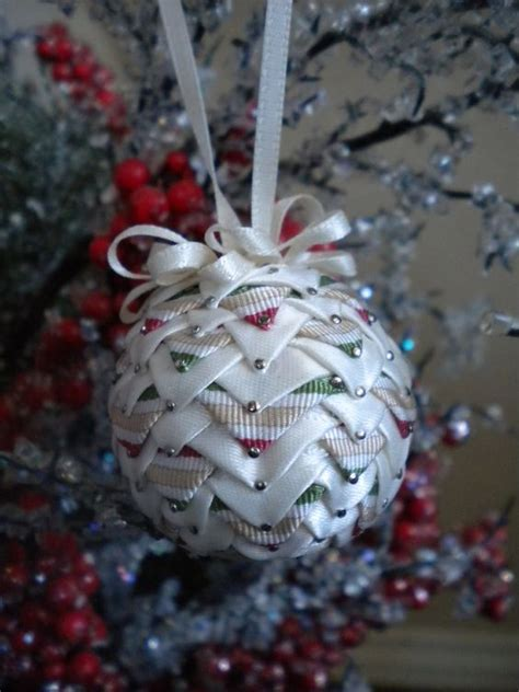 images of quilted christmas balls small quilted christmas ball ornament via etsy good
