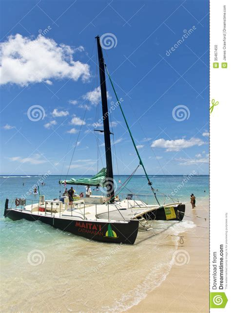 waikiki catamaran boat ride editorial image image 35467450 - Catamaran Boat Ride Hawaii