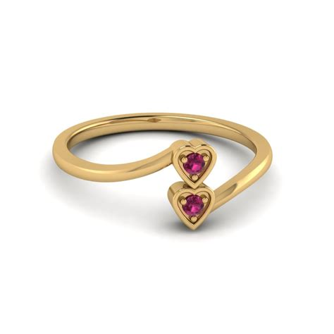 ruby 2 crossover promise ring in 14k gold
