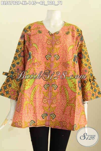 Blus Asimetris Batik busana batik perempuan dewasa blus batik model terbaru