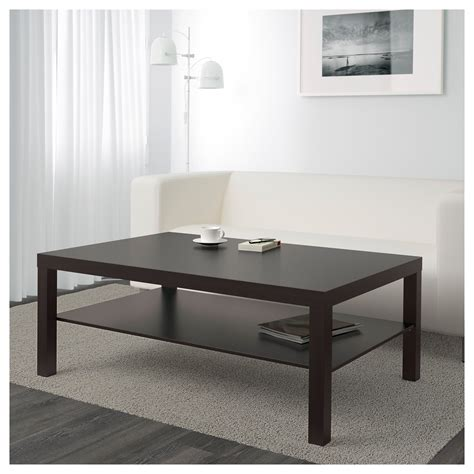 idea coffee table lack coffee table black brown 118x78 cm ikea