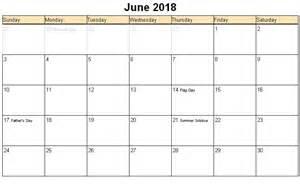 June 2018 Calendar Printable June 2018 Printable Calendar 171 Printable Hub