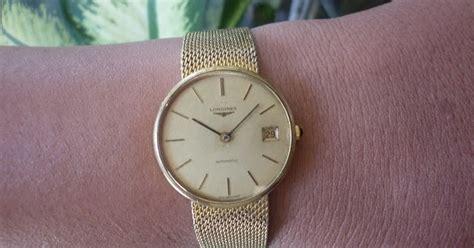 Arloji Jam Tangan Wanita Longines Gold Kuning Lis Mata jam tangan kuno antik dan modern jam vintage tipis