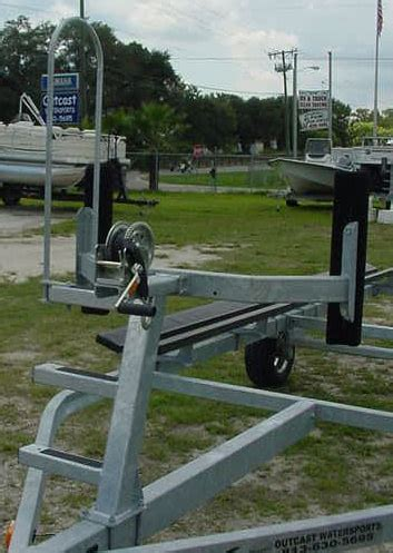 homemade boat trailer winch post bow stop pontoon ladder outcast watersports