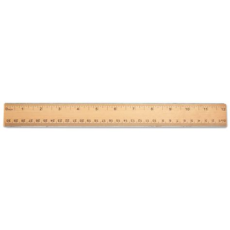 woodworking rulers flat wood ruler w metal edge by universal 174 unv59021