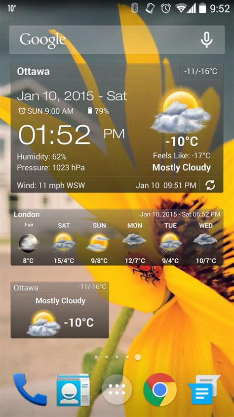 weather apps free android weather clock widget for android android apps on play