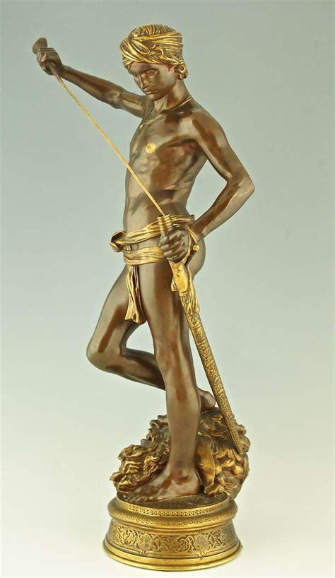 Bronze L by Antique Bronze Sculpture David By Antonin Mercie