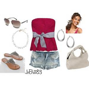 Jean shorts and rhinestone sandals browse and shop related looks