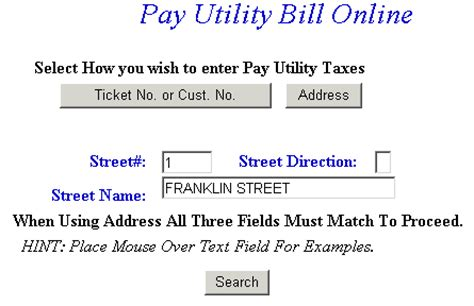 Utility Bill Lookup By Address Pay Utilities Faq