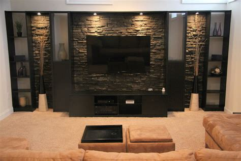 entertainment room design impressive billy bookcase decorating ideas for basement