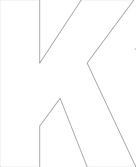letter k template best photos of printable large letter k large printable