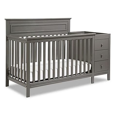 Crib And Bed Combo Davinci Autumn 4 In 1 Crib Changer Combo In Slate Bed Bath Beyond