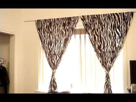 curtain tie backs without drilling decorating tips curtains youtube