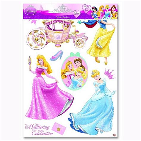 disney princess stickers for walls disney princess wall stickers new official ebay