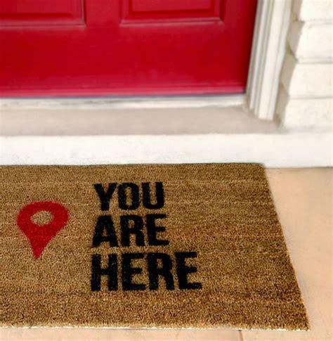 door welcome mat diy stenciled doormat recipe your craft