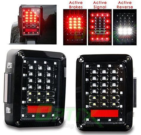 Jeep Tj Led Lights Optix Led Light Brake And Turn Signal Lights For Jeep