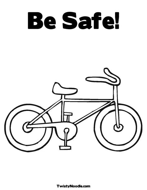 bike safety coloring page az coloring pages