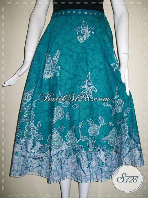 rok batik tulis model tali lilitrok batik motif floral