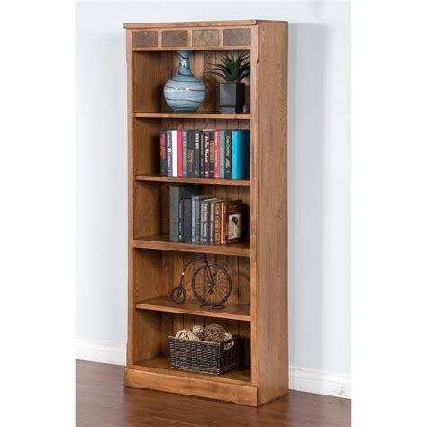 designs sedona bookcase designs sedona 74 in bookcase rustic oak