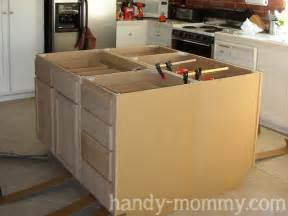 how to make an kitchen island building kitchen island with wall cabinets 187 woodworktips