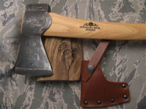 Handmade Swedish Axe - gransfors bruk sweden small forest axe treeman knives