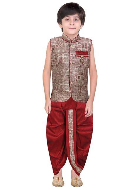 dhoti pattern kurti online buy beige art silk kids dhoti kurta boys dhoti kurta