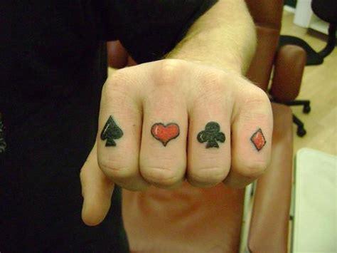 poker hand tattoo justin at kats like us tattoos