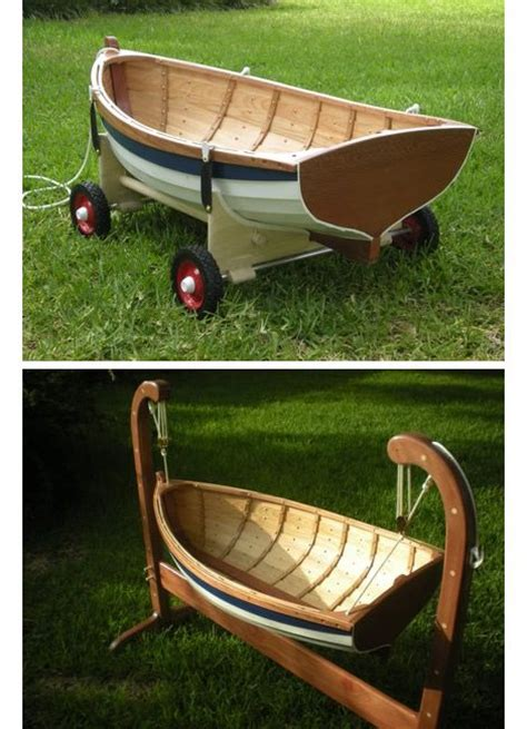 boat made into bed beautiful little boat to use as a cradle then can be
