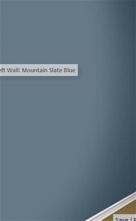 mountain slate blue glidden guest room for the home