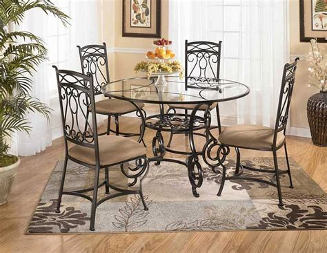 glass top kitchen table sets wrought iron kitchen table ideas homesfeed