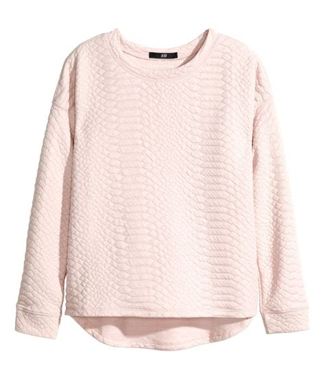 light pink chion sweatshirt light pink long sleeve sweatshirt in textured fabric with