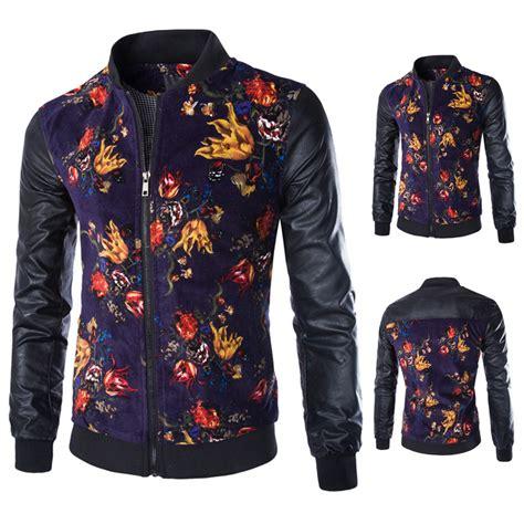 jacket design maker philippines 2015 hot mens designer jackets stand collar floral printed